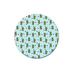 Pineapple Watermelon Fruit Lime Magnet 3  (round)
