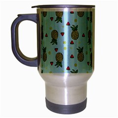Pineapple Watermelon Fruit Lime Travel Mug (silver Gray)