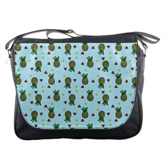 Pineapple Watermelon Fruit Lime Messenger Bags