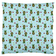 Pineapple Watermelon Fruit Lime Large Flano Cushion Case (one Side)