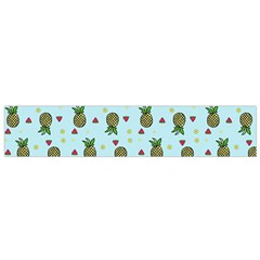 Pineapple Watermelon Fruit Lime Small Flano Scarf by Nexatart
