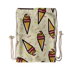 Pattern Sweet Seamless Background Drawstring Bag (small)