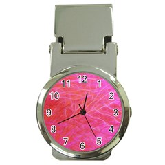 Pink Background Abstract Texture Money Clip Watches by Nexatart