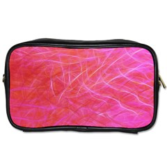 Pink Background Abstract Texture Toiletries Bags by Nexatart