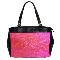 Pink Background Abstract Texture Office Handbags (2 Sides)