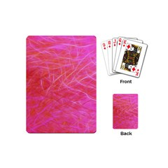 Pink Background Abstract Texture Playing Cards (mini)  by Nexatart