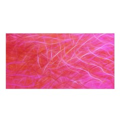 Pink Background Abstract Texture Satin Shawl by Nexatart