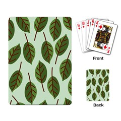 Design Pattern Background Green Playing Card
