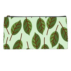 Design Pattern Background Green Pencil Cases