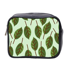 Design Pattern Background Green Mini Toiletries Bag 2 Side by Nexatart
