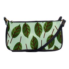 Design Pattern Background Green Shoulder Clutch Bags by Nexatart