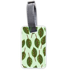 Design Pattern Background Green Luggage Tags (two Sides)