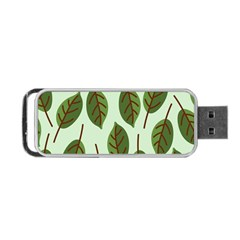 Design Pattern Background Green Portable Usb Flash (two Sides) by Nexatart