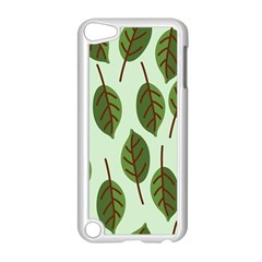 Design Pattern Background Green Apple Ipod Touch 5 Case (white) by Nexatart