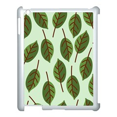 Design Pattern Background Green Apple Ipad 3/4 Case (white) by Nexatart