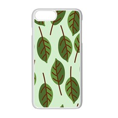 Design Pattern Background Green Apple Iphone 7 Plus Seamless Case (white)