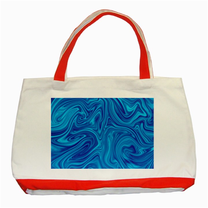 Abstract Pattern Art Desktop Shape Classic Tote Bag (Red)