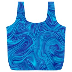 Abstract Pattern Art Desktop Shape Full Print Recycle Bags (l)