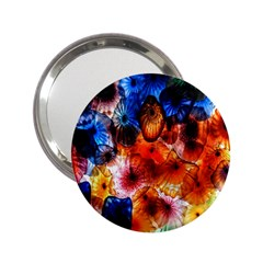 Ornament Color Vivid Pattern Art 2 25  Handbag Mirrors