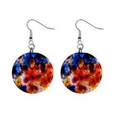 Ornament Color Vivid Pattern Art Mini Button Earrings by Nexatart
