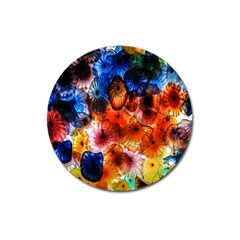 Ornament Color Vivid Pattern Art Magnet 3  (round) by Nexatart