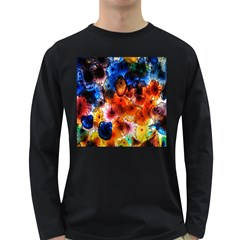 Ornament Color Vivid Pattern Art Long Sleeve Dark T-shirts by Nexatart