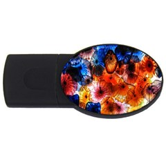 Ornament Color Vivid Pattern Art Usb Flash Drive Oval (4 Gb) by Nexatart