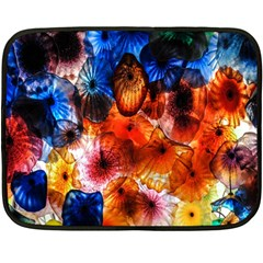 Ornament Color Vivid Pattern Art Double Sided Fleece Blanket (mini)