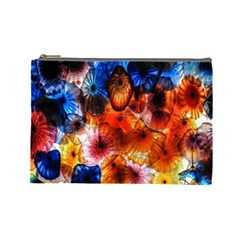 Ornament Color Vivid Pattern Art Cosmetic Bag (large)