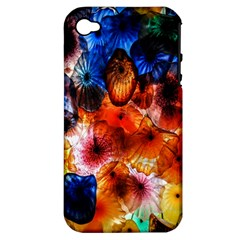 Ornament Color Vivid Pattern Art Apple Iphone 4/4s Hardshell Case (pc+silicone)