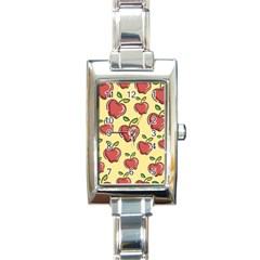 Seamless Pattern Healthy Fruit Rectangle Italian Charm Watch