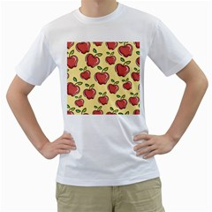 Seamless Pattern Healthy Fruit Men s T Shirt (white) (two Sided)