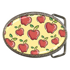 Seamless Pattern Healthy Fruit Belt Buckles by Nexatart