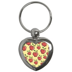 Seamless Pattern Healthy Fruit Key Chains (heart)  by Nexatart