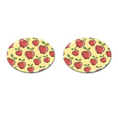 Seamless Pattern Healthy Fruit Cufflinks (oval) by Nexatart