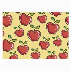 Seamless Pattern Healthy Fruit Large Glasses Cloth (2 Side) by Nexatart