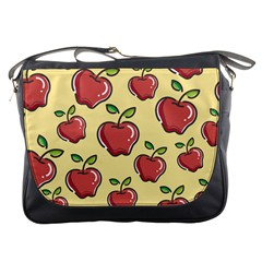 Seamless Pattern Healthy Fruit Messenger Bags