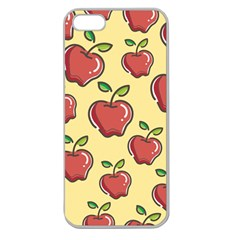 Seamless Pattern Healthy Fruit Apple Seamless Iphone 5 Case (clear)