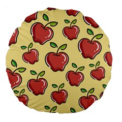Seamless Pattern Healthy Fruit Large 18  Premium Round Cushions
