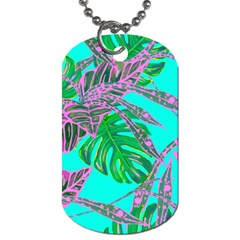 Painting Oil Leaves Nature Reason Dog Tag (two Sides)