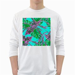 Painting Oil Leaves Nature Reason White Long Sleeve T-shirts by Nexatart