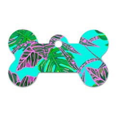 Painting Oil Leaves Nature Reason Dog Tag Bone (two Sides)
