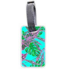 Painting Oil Leaves Nature Reason Luggage Tags (one Side)