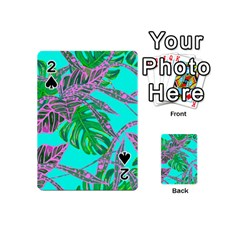 Painting Oil Leaves Nature Reason Playing Cards 54 (mini)  by Nexatart