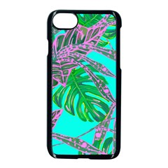 Painting Oil Leaves Nature Reason Apple Iphone 8 Seamless Case (black)