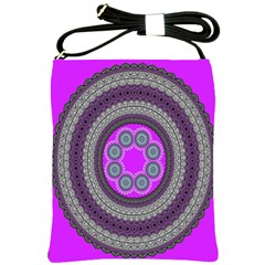 Round Pattern Ethnic Design Shoulder Sling Bags by Nexatart