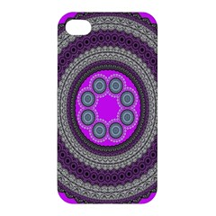 Round Pattern Ethnic Design Apple Iphone 4/4s Hardshell Case by Nexatart