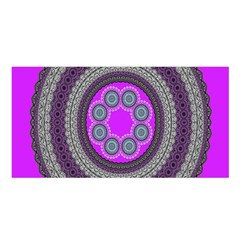 Round Pattern Ethnic Design Satin Shawl by Nexatart