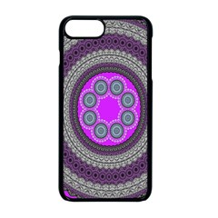 Round Pattern Ethnic Design Apple Iphone 8 Plus Seamless Case (black)