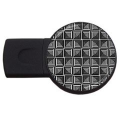 Pattern Op Art Black White Grey Usb Flash Drive Round (4 Gb) by Nexatart